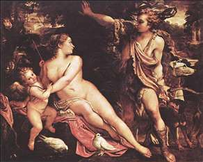 Venus, Adonis and Cupid