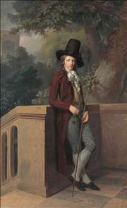 Nicolas Châtelain in the Garten