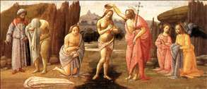 Predella: Baptism of Christ