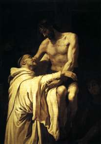 Christ Embracing St Bernard