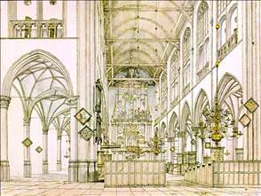 Interior of the Church in Alkmaar