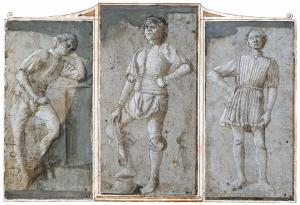 Study of David and Two Figures