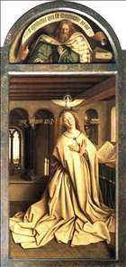 The Ghent Altarpiece: Prophet Micheas; Mary of the Annunciation