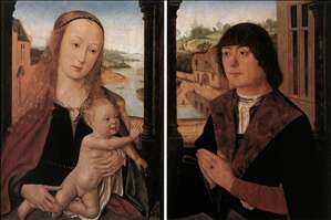 Diptych with a Man at Prayer before the Virgin and Child