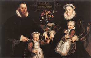 Portrait of Antonius Anselmus, His Wife and Their Children