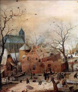 Winter Landscape with Skaters (detail)