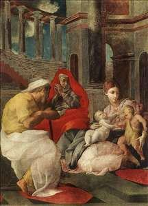 The Holy Family with Sts Elisabeth and John the Baptist