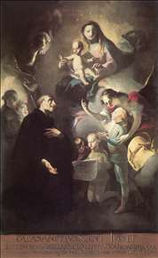 Saint Joseph Calasantius before the Virgin