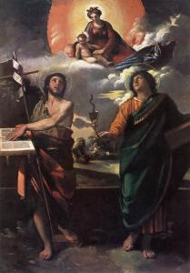 The Virgin Appearing to Sts John the Baptist and John the Evangelist