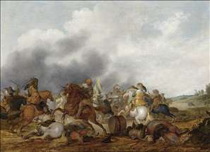 Cavalry Battle Scene