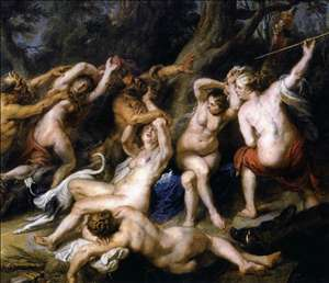Diana and her Nymphs Surprised by the Fauns
