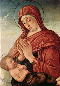 Madonna in Adoration of the Sleeping Child