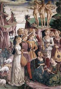 Allegory of April: Triumph of Venus (right view)