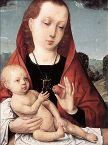 Virgin and Child before a Landscape