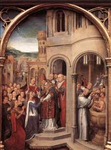 St Ursula Shrine: Arrival in Rome (scene 3)