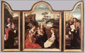Virgin and Child with St Catherine and St Barbara