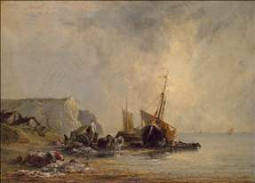 Boats near the Shore of Normandy