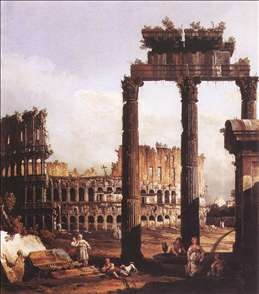 Capriccio with the Colosseum