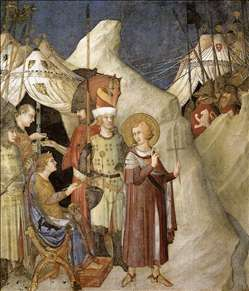 Saint Martin Renounces his Weapons (scene 4)