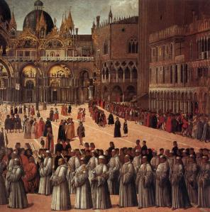Procession in Piazza San Marco (detail)
