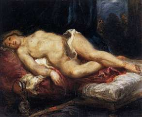 Odalisque Reclining on a Divan