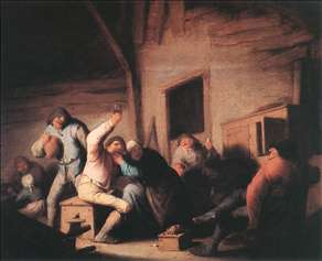 Carousing Peasants in a Tavern