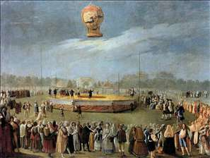 ascent of the balloon in the