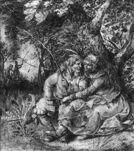 Elderly Fisherman with a Girl