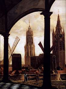 A View of Delft through an Imaginary Loggia (detail)