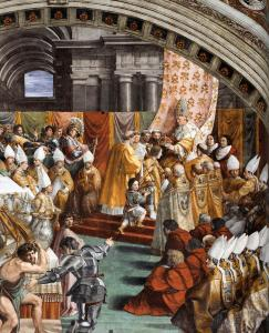 The Coronation of Charlemagne (detail)