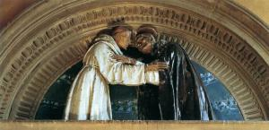 Embrace between Sts Francis and Dominic