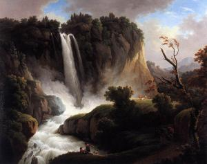 Italian Landscape with a Waterfall