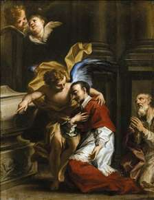 St Carlo Borromeo Tended by an Angel
