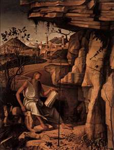 St Jerome Reading in the Countryside