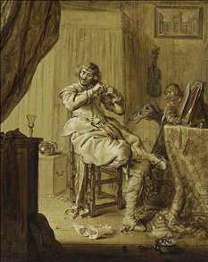 A Cavalier at His Dressing Table