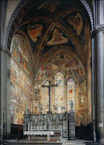 View of the Tornabuoni Chapel