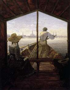 A Gondola on the Elbe near Dresden