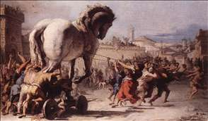 The Procession of the Trojan Horse in Troy