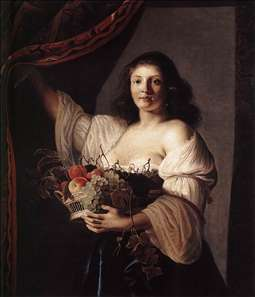 Woman with a Basket of Fruit