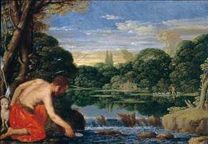 Wooded River Landscape with St John the Baptist
