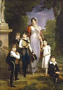 Portrait of Mar�chale Lannes, Duchesse de Montebello with Her Children