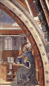 St Augustine's Vision of St Jerome (scene 16, east wall)