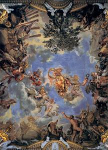 Ceiling fresco with Medici coat-of-arms