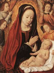 Madonna and Child Adored by Angels