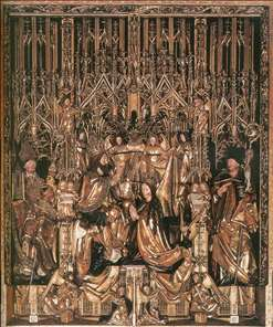Coronation of the Virgin between St Wolfgang and St Benedict