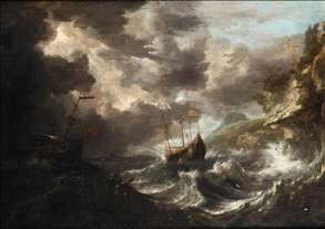 Shipping in a Tempest off a Rocky Coast