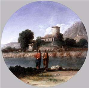 Landscape with Christ and St Peter