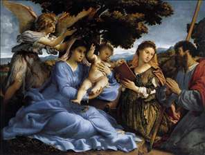 Madonna and Child with Saints and an Angel