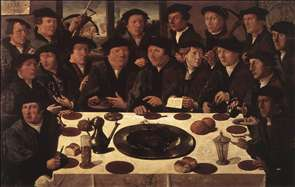 Banquet of Members of Amsterdam's Crossbow Civic Guard