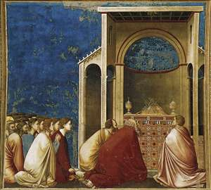 No. 10 Scenes from the Life of the Virgin: 4.The Suitors Praying